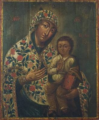 Icon of the Virgin Mary and Baby. Unknown author, the end of the XVIII century © artmuseumdp2011